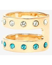 Maria Francesca Pepe - Encrusted Double Banded Midi Ring - Lyst