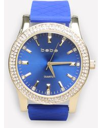 Bebe - Quilted Wristband Watch - Lyst