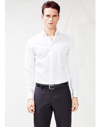 Mango Slim Fit Premium Textured Shirt - Lyst