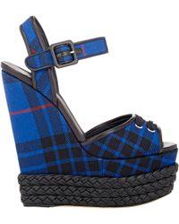 Giuseppe Zanotti Braided Platform-Wedge Sandals blue - Lyst