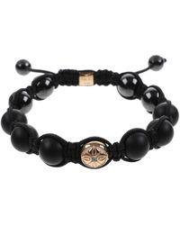 Shamballa Jewels Black Bracelet - Lyst