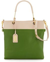 Badgley Mischka Glenda Napa Bicolor Tote Bag - Lyst