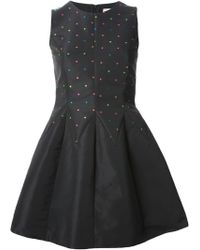 RED Valentino Star Embroidered Dress - Lyst