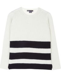 Vince Striped Woolcashmere Blend Jumper - Lyst