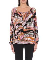 Emilio Pucci Chain-detail Printed Top - Lyst