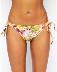 Freya Copacabana Rio Tie Side Bikini Briefs floral - Lyst