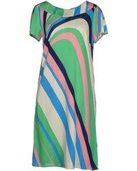 Issa Short Dress multicolor - Lyst