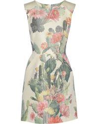 Matthew Williamson Floral-Print Cotton And Silk-Blend Mini Dress - Lyst