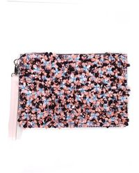 Mother Of Pearl Prima Pink Check Large Clutch - Lyst