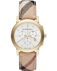 Burberry The City Goldtoned Stainless Steel Watch Silver - Lyst