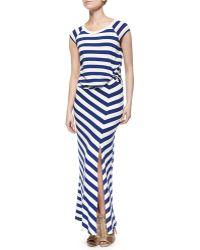 Ella Moss Barbara Striped Jersey Dress - Lyst