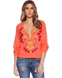 Antik Batik Dove Blouse orange - Lyst