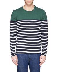 Paul Smith Colourblock Stripe Cotton T-Shirt - Lyst