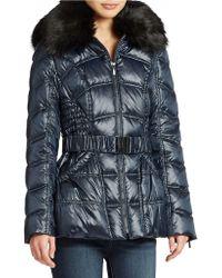 Laundry by Shelli Segal Faux Fur Trimmed Ski Jacket - Lyst