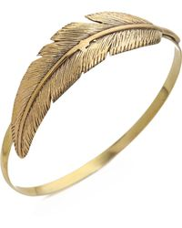 Sunahara | Feather Wrap Bangle Bracelet - Gold | Lyst