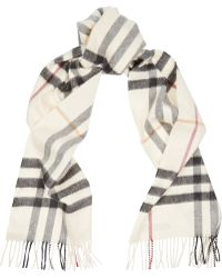Burberry Checked Cashmere Scarf - Lyst