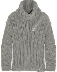 Jay Ahr - Zip-Detailed Ribbed Wool And Alpaca-Blend Sweater - Lyst