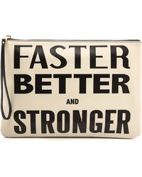 994d3e29755 Karen Walker - Faster Better and Stronger Clutch Creamblack - Lyst