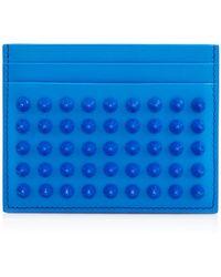 Christian Louboutin Kios Spikes Card Holder blue - Lyst
