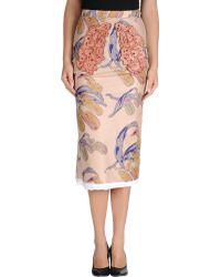Sonia Rykiel 3/4 Length Skirt multicolor - Lyst