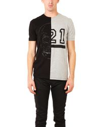 Markus Lupfer Skull 21 Half T Shirt - Lyst