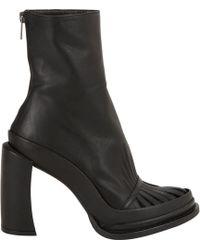 Ann Demeulemeester Cutout-Vamp Platform Ankle Boots - Lyst