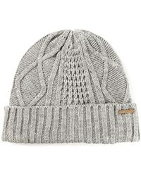 Diesel Cable Knit Beanie Hat - Lyst