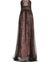 Notte By Marchesa Floral Print With Tulle Gown - Lyst