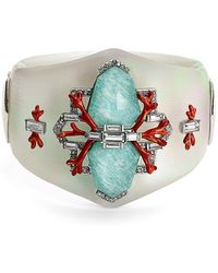 Alexis Bittar 'Lucite - Bedarra' Embellished Hinged Bangle - Lyst
