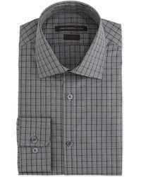 John Varvatos Slim-Fit Checked Dress Shirt - Lyst