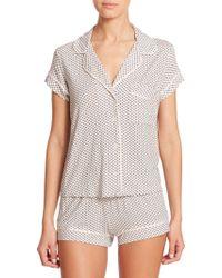 Eberjey Sleep Chic Short Pajamas gray - Lyst