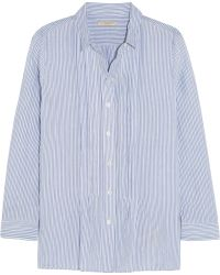 Burberry Brit - Striped Cotton-Blend Shirt - Lyst