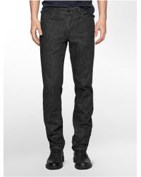 Calvin Klein Slim Straight Leg Deep Blue Dark Wash - Lyst