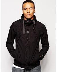 G-Star RAW G Star Hooded Overshirt Jacket Benin Combat Ripstop - Lyst