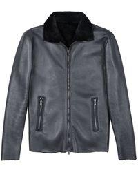 Costume National Black Leather Jacket - Lyst