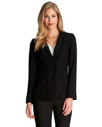 Cece by Cynthia Steffe - Floral Lace Inset One-button Jacket - Lyst