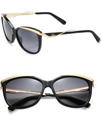 Dior Metal & Plastic Cat'S-Eye Sunglasses - Lyst