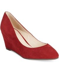 Nine West Red Ispy Wedges - Lyst