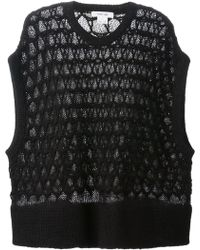 Helmut Lang Corded Lace Knit Tank - Lyst