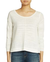 French Connection Mixed Media Pullover Top - Lyst