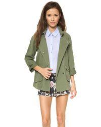 Textile Elizabeth and James - Kelsey Jacket Green Khaki - Lyst
