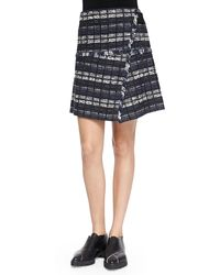 Proenza Schouler Tweed Skirt with Fringe - Lyst