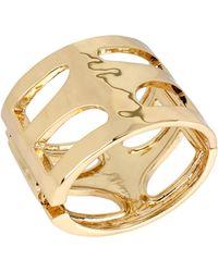 Robert Lee Morris - Seaglass Goldtone Cut-Out Bangle Bracelet - Lyst