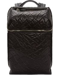 Alexander Wang Black Leather Inside_out Embossed Backpack - Lyst