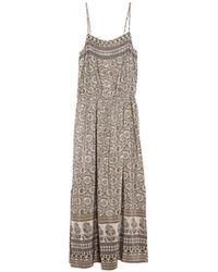 Sea Bohemian Maxi Dress brown - Lyst