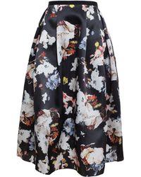Erdem Imari Silk Gazar Skirt - Lyst