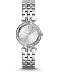 Michael Kors Stainless Steel Mini Darci Watch, 26Mm - Lyst