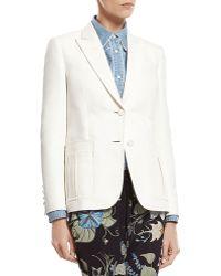 Gucci White Techno Cotton-Silk Jacket - Lyst