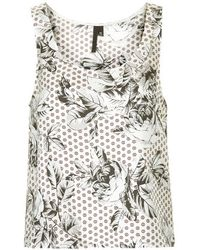 Topshop Geo-Rose Print Silk Vest By Boutique - Lyst