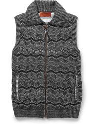 Missoni Textured Knit Wool Blend Gilet - Lyst